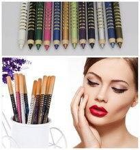 NOVA ARRIVEL 1 CONJUNTO de 12 Cores Cosméticos Maquiagem Caneta Sombra À Prova D' Água Eye Liner Lip Pencil Eyeliner 12 PCS