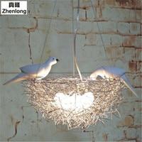 Modern LED Chandelier Lighting Bird's Nest Droplight Bedroom Pendant Lamp Lustre Hanging Fixtures Child Kids Room Decor Light