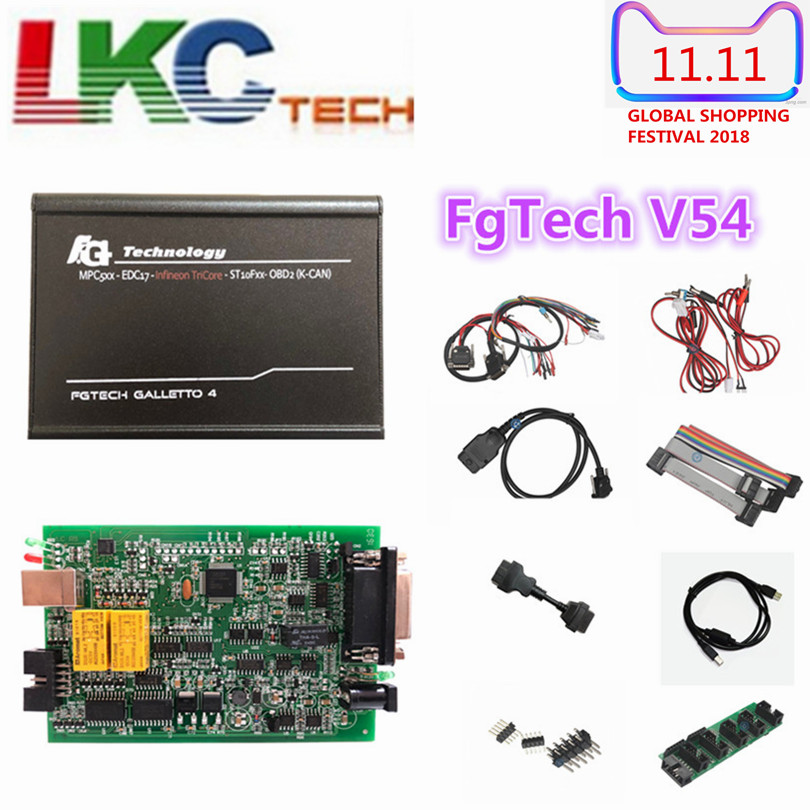 2018 Best Fgtech Galletto 4 Master V54 FG Tech V54 BDM-Tri Core OBD Support BDM Fuction OBD2 ECU Chip Tuning Tool