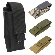 Military Molle Pouch Tactical Single Pistol Magazine Pouch Knife Phone Flashlight Sheath Airsoft Hunting Ammo Camo Accessory Bag 1000d molle men tactical admin magazine storage pouch pistol gun holster bag edc utility accessory pack mag map flashlight bag