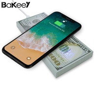 Bakeey Funny AW01 Qi Wireless Dollars Money Desktop Fast Chargeing Charger Pad For IPhone 8 X