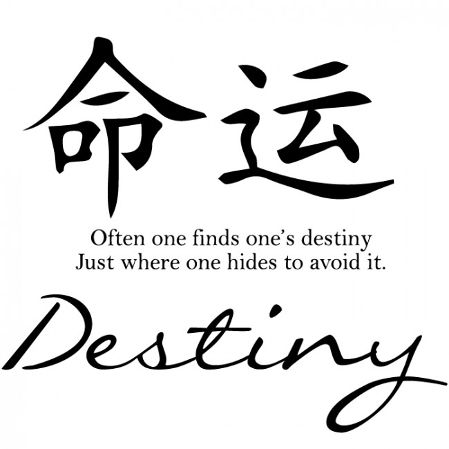 Destiny Chinese Character Wall Stickers For Living Room Chinese