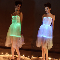 Сексуальные костюмы модные vstidos световой платье LED Праздничное Платье Женская Свадебная вечеринка загорается платье вспышки света платье