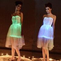 Sexy costumes fashion lace vstidos luminous dress led party dress women Bridal evening party light up Dress Flash light dress