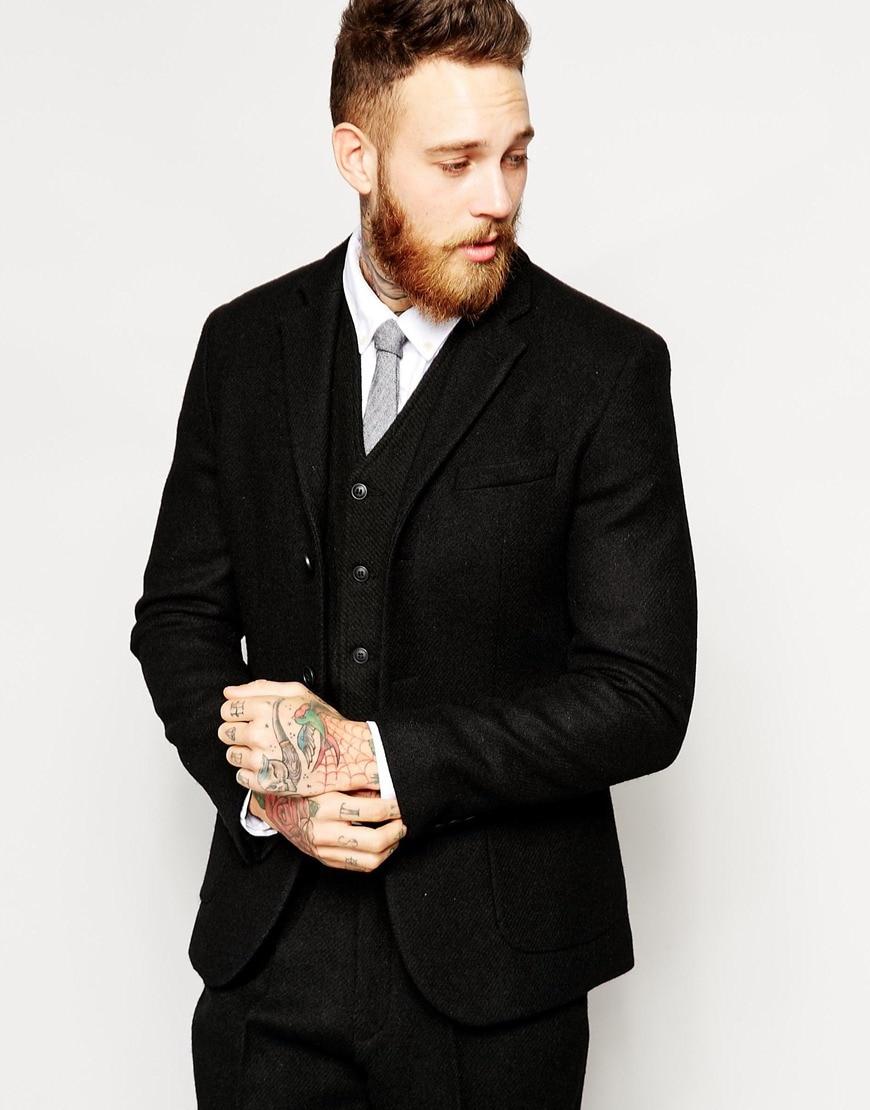 2018-Latest-Coat-Pant-Designs-Winter-Black-Tweed-Men-Suit-Slim-Fit-3-Piece-Tuxedo-Custom (1)