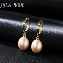 Fyla Mode Natural Freshwater Pearl Clip Earrings Jewelry With 925 Sterling Silver Fashion For Women