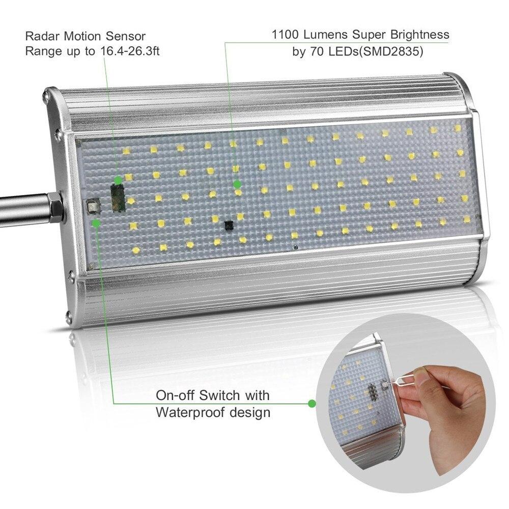 modos com controle remoto solar buitenlamp jardim