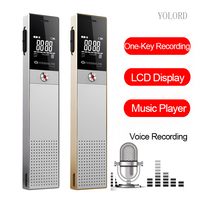Mini LCD Screen Smart Activated Digital Audio Voice Recording Reporter Ineteview Pen Recorder Speaker Repeat Player Mp3 8G/16GB