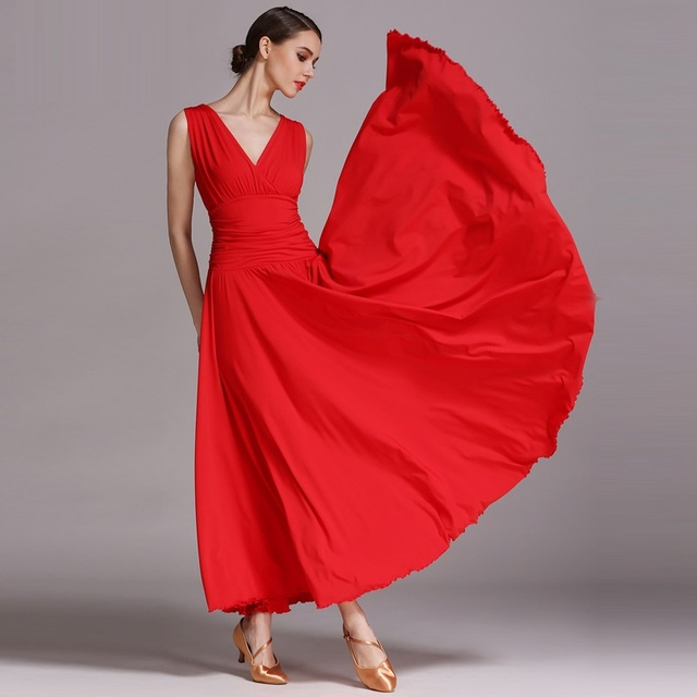 6 colors camisa flamenco dresses dance ballroom flamenco dance costumes chorus ballroom dance dresses red spanish dress waltz