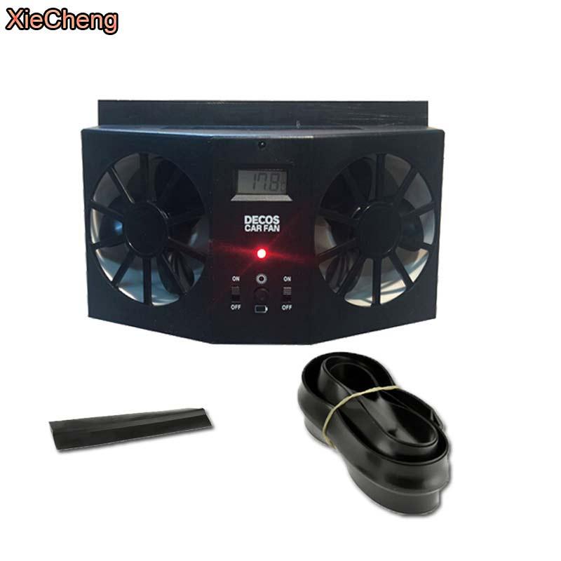 XieCheng Car Solar Fan 2017 New arrival Portable Air Vent Cool Fan Cooler Ventilation System Radiator HIGH QUALITY Portable