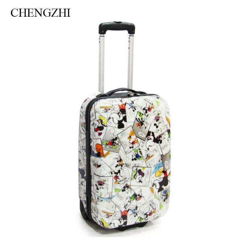 Chengzhi 20 Zoll Kinder Harte Reise Koffer Kleine Trolley Gepäck Tasche Auf Rädern