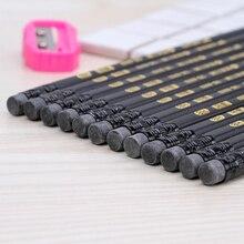 72 sztuk standardowy węgla czarny ołówek wysokiej jakości jednolity kolor pióro HB profesjonalny rysunek ołówek, aby wysłać temperówka