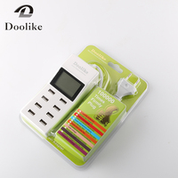 Doolike 8 port USB Desktop Charger Multi Smart Fast Charging Dock Station With LCD Display for IOS Android
