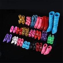 24 шт./12 пар; кукольные туфли; игрушечные сапожки; модная кукольная обувь; Босоножки на каблуке; Одежда для кукол; аксессуары к платью; лучший подарок
