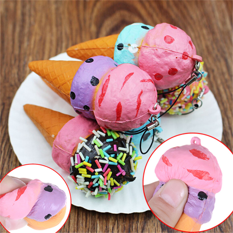 Kawaii Scented Stretchy Toy Soft Cute Simulation Bread Donut Squishy Slow Rising Squeeze Bag Accessories &ornament Luggage & Bags