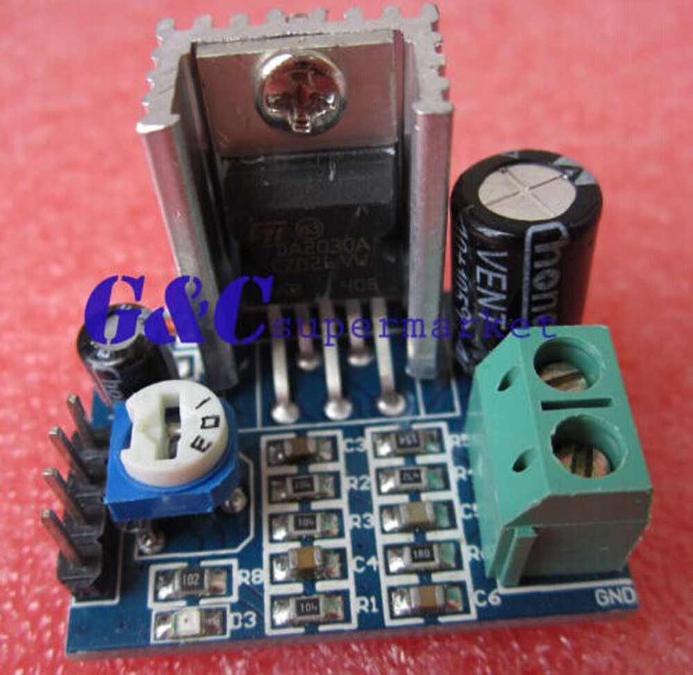 1pcs 25 5v 2x3w Mini Audio Class D Amplifier Board In Integrated Copper Clad Boards 10x15cm 100x150x12mm High Quality For Circuit Pcb Tda2030a Module Voice Single Power Supply