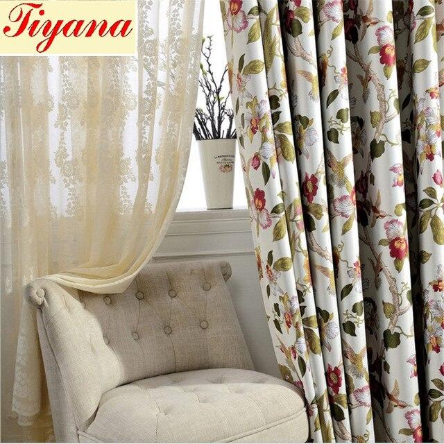 italiaanse afdrukken moderne stijl blackout sheer gordijn doek voile tule verse modieuze drape gordijn voor woonkamer