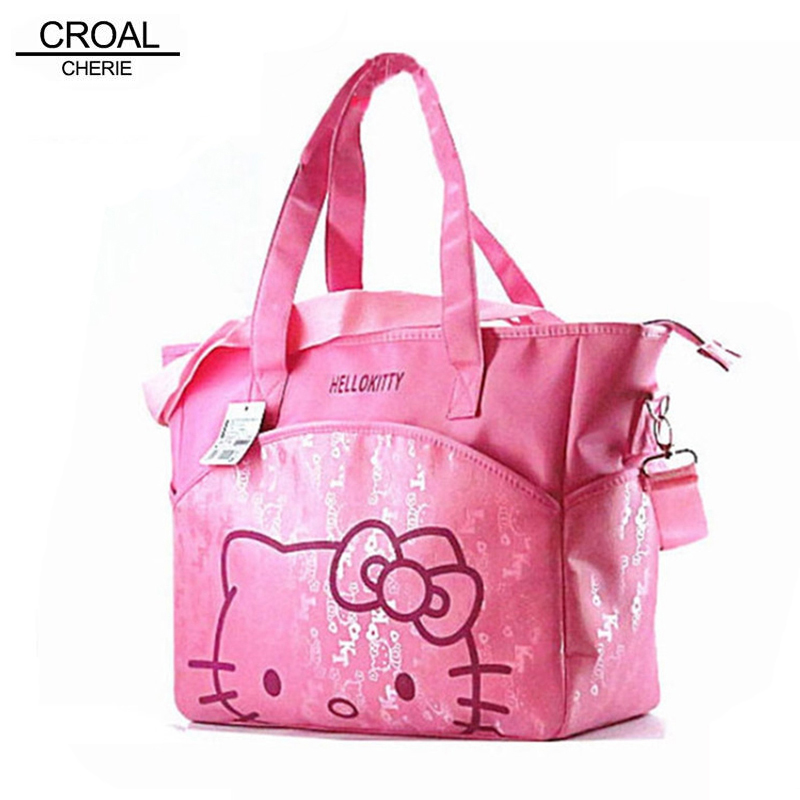 31 37 14 cm Canvas Baby Diaper Bag For Mom Mummy Mother Hello Kitty Maternity Nappy