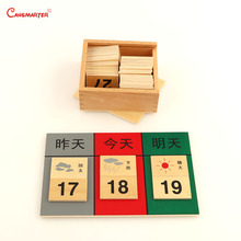 Montessori Yesterday Today Tomorrow Date Study Exercise Daily Weather Calendar Toys Teaching Preschool for Kids GE041