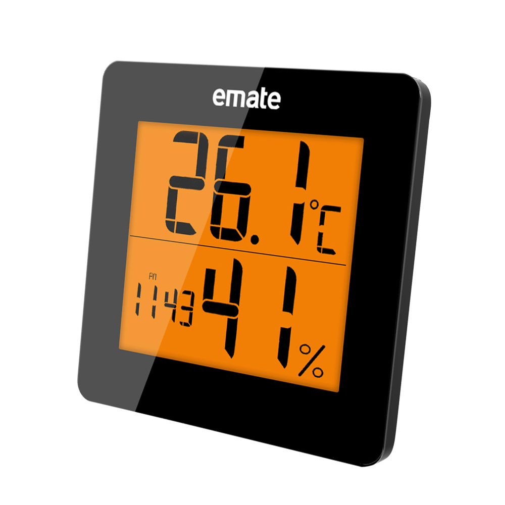 Digital Thermometer Hygrometer Electronic LCD Temperature Humidity Meter Weather Station Indoor Outdoor Clock