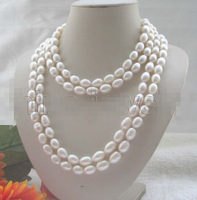 Beautiful long strand AAA 80 12 15mm white baroque freshwater pearl necklace Factory Wholesale price Women Gift word Jewelry
