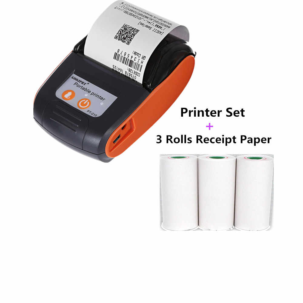 GOOJPRT беспроводной мини 58 мм Bluetooth принтер портативный термопринтер принтер для мобильного телефона Android, IOS, Windows Pocket Bill