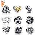 19 Estilos Auténtica Plata de Ley 925 Del Corazón, Arco Nudo, Árbol Encantos Bijoux Beads Fit Pandora Pulsera Del Encanto Original joyería