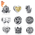 19 Styles Authentic 925 Sterling Silver Heart,Bow Knot,Tree Charms Bijoux Beads Fit Pandora Charm Bracelet Original Jewelry