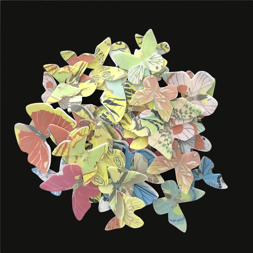 42pcs/lot Mixed Butterfly Edible Glutinous Wafer Rice Paper Cake Toppers For Cake Decoration Birthday Wedding Cake Tools-in Other Cake Tools from Home & Garden