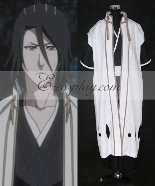 Bleach 6th Division Captain Kuchiki Byakuya Outfit Cosplay