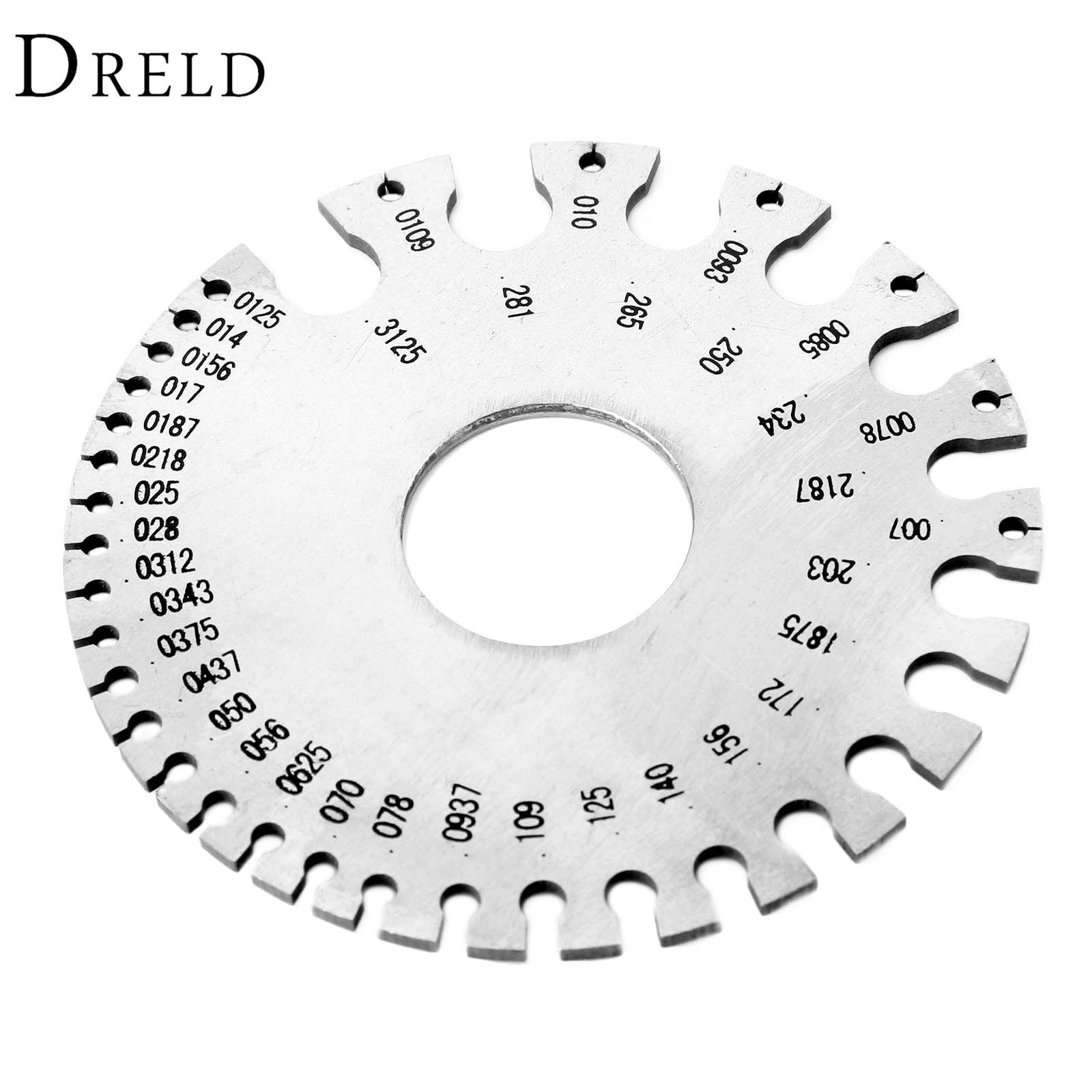 dreld 0 36 stainless steel wire gauge weld diameter gauge welding inspection inch measuring gauges fpr measurement tool with bag [ 1600 x 1600 Pixel ]