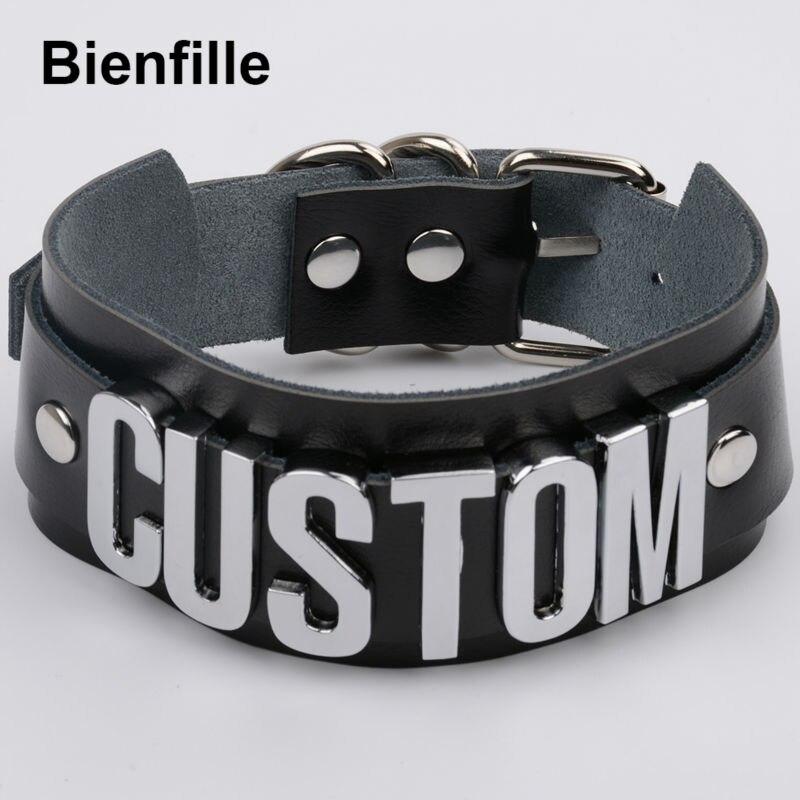 Prilagođeno personalizirano ime choker ogrlica pretjerana široka - Modni nakit - Foto 2