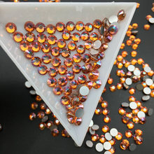 Good Quality Sunset Glow DIY Strass Crystal ss3-ss34 Non HotFix Nail Art Flatback Rhinestones for Clothes Decorations