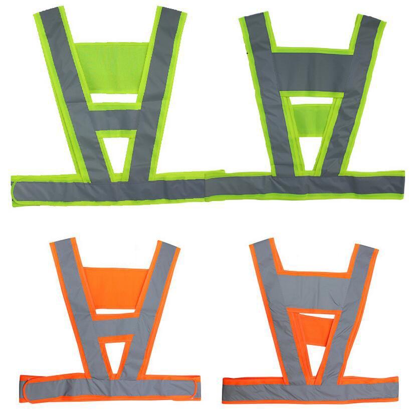 V Vest Unisex Hi Vis Viz Reflective Safety Vest Strips for Construction Traffic Warehouse night work Security Vest Free Post