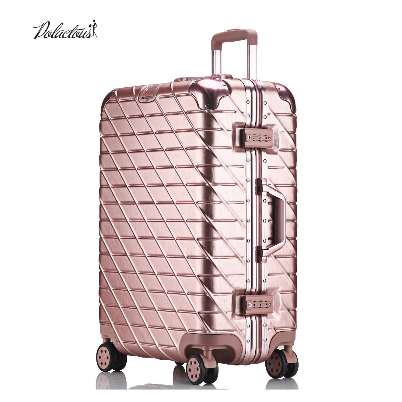 20 24 26 29 inch Aluminum frame + PC + ABS Hardside Luggage, Vintage Rolling suitcase, Nniversal wheel Password Lock Bag vintage suitcase 20 26 pu leather travel suitcase scratch resistant rolling luggage bags suitcase with tsa lock