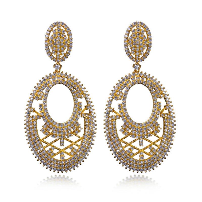 New 2017 Latest Design Large Earring!! White Stone Earrings in ...