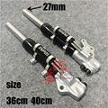 A pair of motorcycle shock absorber Front shock absorber of 27mm plug in motorcycle size 36cm and 40cm
