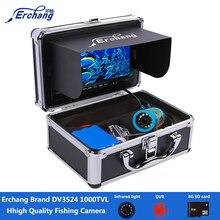 Erchang DV3524 1000TVL Рыболокаторы Камера видеорегистратор с 8 г карты Водонепроницаемый Рыбалка Камера инфракрасный подводный Ice Fising Fishfinder