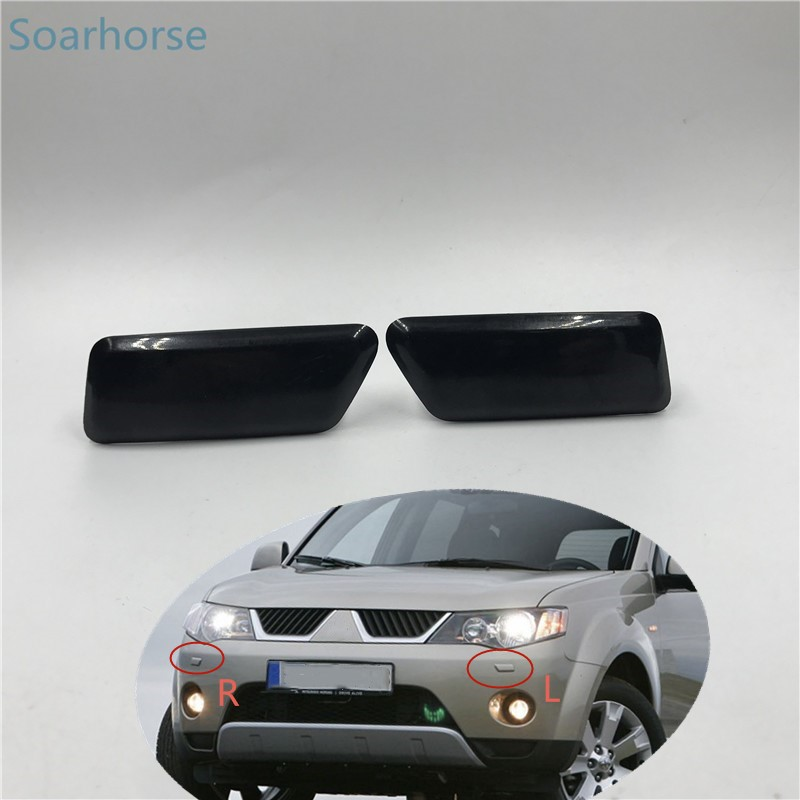 Soarhorse For Mitsubishi Outlander XL 2006-2010 front bumper Headlight washer spray nozzle cover Headlamp washer Jet cap