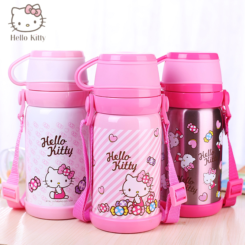 HELLO KITTY Kids Water CupThermos Glass Cup Water Bottles Coffee Mug Travel Water Pot Cat Mugs