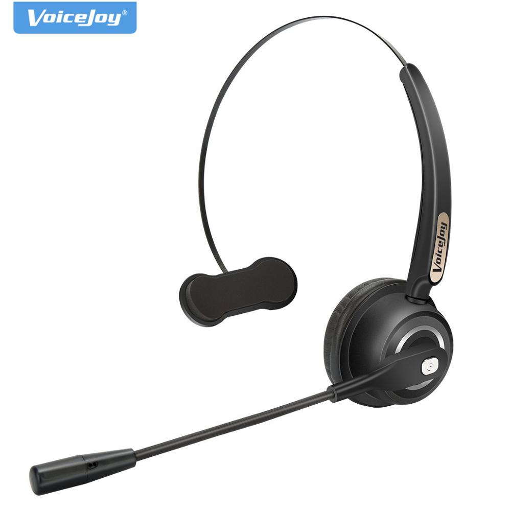 Voicejoy Professional Over The Head Driver Rechargeable Wireless Bluetooth Headset Microphone Noise Cancelling Headphones Noise Canceling Headphone Bluetooth Headsetwireless Bluetooth Headset Aliexpress