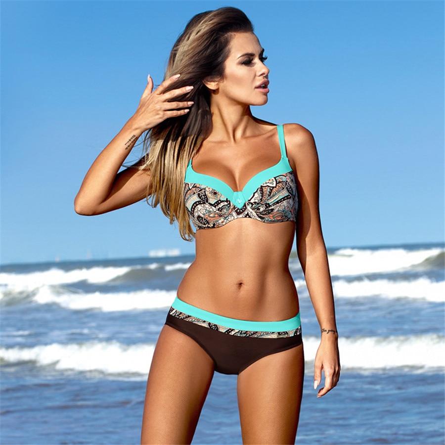 HTB1.snRs1uSBuNjSsplq6ze8pXaw bikini swimwear women 2018 sexy bikini set push up swimsuit female two piece swimsuit women halter yellow bikini girl beach wear