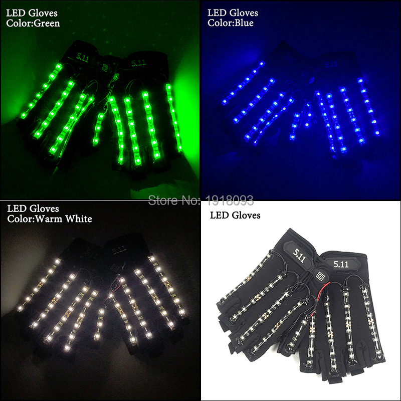 Us 20 14 21 Off Dc 12v Ed By 23a Battery Led Strip Lights Flashing Gloves For Festival Party Supplies In Strips From Lighting