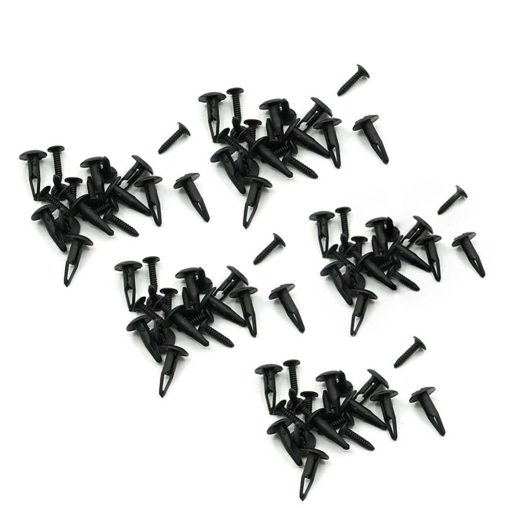 50 Piece Plastic Rivet Fastener Screws Bolts Clips For