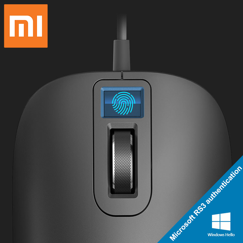 Xiaomi nouvelle interface USB de souris d'identification d'empreintes digitales pour Windows10, 8.1 Surface d'ordinateur portable ordinateur de bureau souris filaire de bureau
