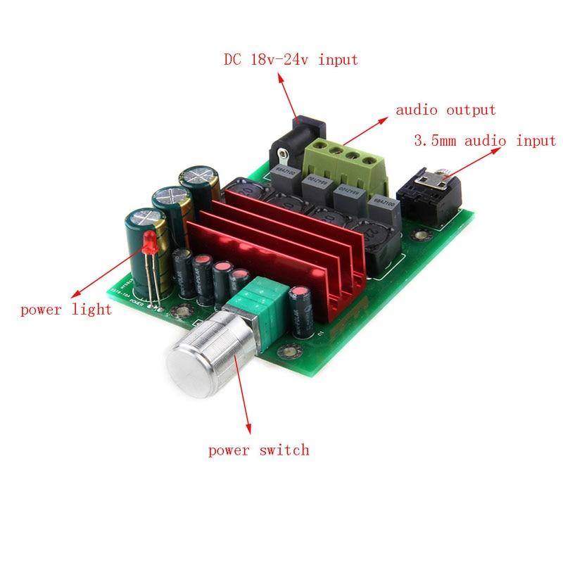 2018 HEIßER HIFI 2,0 TPA3116 D2 50W + 50W Audio Power Verstärker Digital Abgeschlossen Bord