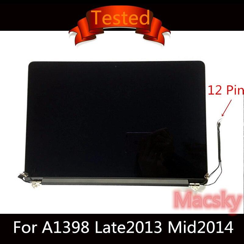 """Testé 15.4 ''A1398 écran LCD complet pour Macbook Pro 15"""" A1398 ensemble d'affichage complet 2013 2014 2015 ME293/294 MGXC2LL/A"""