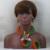 Contas Nigeriano Set Mix amarelo Lilás Africano Inspirado Jóias Grandes WD700 Flor Broche de Flor Conjunto Colar de Pingente de Frete Grátis