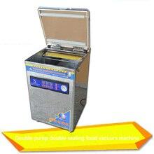 1 шт. YMX-958-06L стол из нержавеющей стали-Стиль пищевая вакуумная упаковочная машина настольная двойной насос вакуумный упаковщик машина