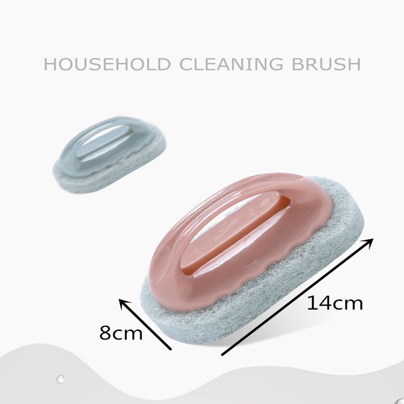 ZISIZ PP Strong Decontamination Bath Brush Sponge Tiles Brush Magic Strong Decontamination Glass Brushes Kitchen Cleaning Brush in Cleaning Brushes from Home Garden